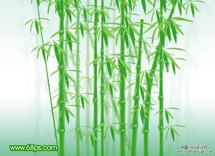 资源教程 创意设计 photoshop photoshop制作葱翠的竹子壁纸  来源:ps